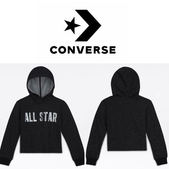 c47481e45642 CONVERSE All Star Hoodie Womens Small Girls Large